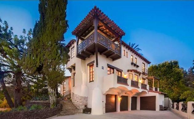 Restored Spanish Colonial Mansion In Los Feliz 4342 Cedarhurst Circle The Hollywood Home
